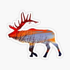 Elk Stickers Redbubble
