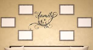 Our Family Vinyl Wall Decal Wording With Modern Swirl Graphics