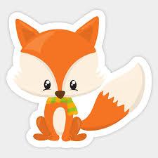 cute fox wearing a scarf orange fox