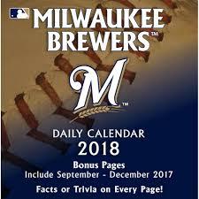 milwaukee brewers 2018 desk calendar
