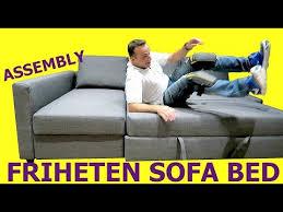 ikea friheten sofa bed assembly