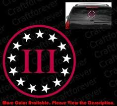 Large Iii 3 3 Percenter Sticker Car Die Cut Decal Vinyl 2a Gun Rights Fa022 Ebay
