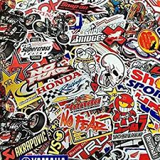 70 Mixed Random Stickers Motocross Motorcycle Car Atv Racing Bike Helmet Decal