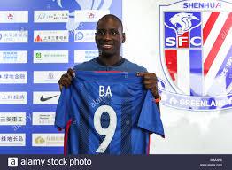 Senegalese striker Demba Ba of Shanghai Shenhua attends a press ...