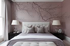Awesome London Cherry Blossom Wall Decal For Nursery Transitional Bedroom Black Brown Furniture Lavender Walls White Headboard Purple Comforter