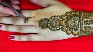 mehndi design back side ka