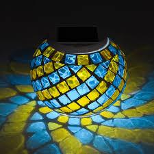 solar mosaic table light colour