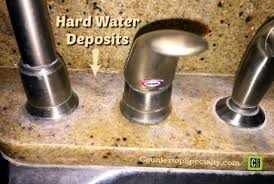 hard water stains on marble and granite