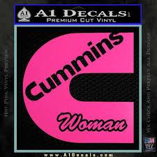 Cummins Woman Decal Sticker A1 Decals
