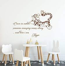 Amazon Com Once In Awhile Someone Amazing Comes Along Wall Decal Quote Winnie The Pooh Tigger Vinyl Stickers Classic Pooh Wall Art Winnie The Pooh Nursery Sticker Kids Bedroom Decor C35 Handmade