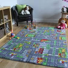city car race play mat rug kids boys