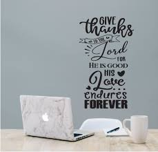 Vinyl Wall Art His Love Endures Forever Vinyl Wall Religious Vinyl Wall Decal