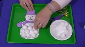 cotton ball snowman craft for pre diy