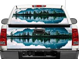 Product Mountains Lake Landscape Rear Window Or Tailgate Decal Sticker Pick Up Truck Suv Car