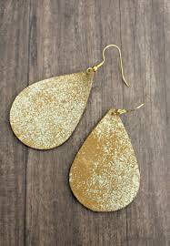 diy leather earrings the southern