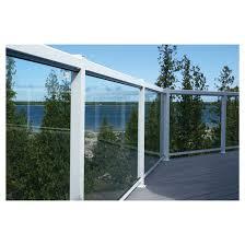 aluminum tempered glass railing panel
