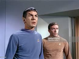 News Photo : Leonard Nimoy as Commander Spock and Adam Roarke... | Leonard  nimoy, Documentaries, Star trek