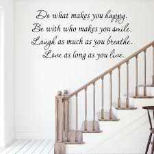 Vwaq Do What Makes You Happy Wall Decal Be With Who Makes You Smile Quote V1 Contemporary Wall Decals By Vwaq Vinyl Wall Art Quotes And Prints