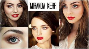 miranda kerr holiday makeup look