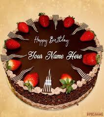 strawberry chocolate birthday name
