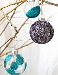 glass ball ornament diys popsugar