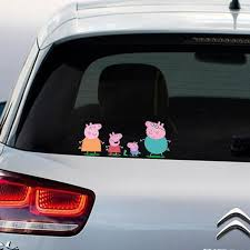 Peppa Pig Gang Full Colour Vinyl Decal Window Sticker Car Bumper Gift