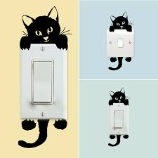 3d Creative Cat Car Switch Decal Stickers Home Wall Decals Switch Decorate For Sale Online Ebay