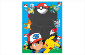 Invitacion Tipo Pizarron Pokemon Editable 2 1 60 00 En Mercado