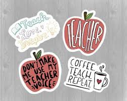 Teacher Decal Etsy