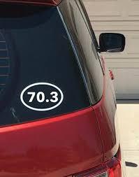 70 3 Half Iron Man Race Vinyl Car Window Decal Etsy