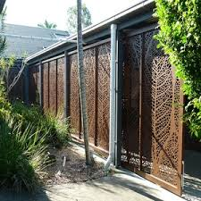 Rusty Metal Arts Decorative Metal Fence Panel Privacy Laser Cut Outdoor Metal Screen Wholesale Curtain Walls Accessories Products On Tradees Com