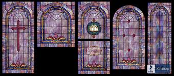 decorative stained glass window