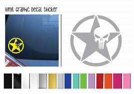 Army Star Punisher Vinyl Graphic Decals By Shop Vinyl Design Shop Vinyl Design