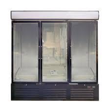 white black 3 glass door commercial