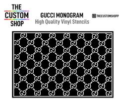 Gucci Monogram Gg Vinyl Painting Stencil Stickers High Quality Cut The Custom Shop