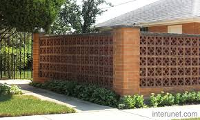 brick fence decorative block picture