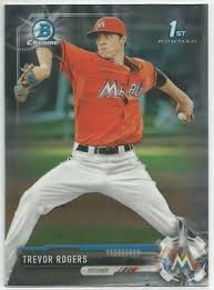 Trevor Rogers Miami Marlins 2017 1st Bowman Chrome Draft Baseball | eBay