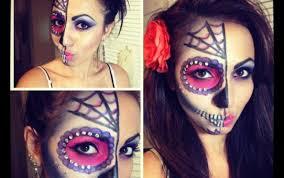 sugar skull makeup half saubhaya makeup