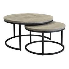 drey round nesting coffee tables set of
