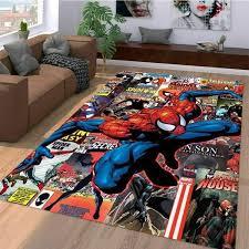Marvel Superhero Spiderman Comic Movie Rug Room Carpet Sport Custom Area Floor Home Decor In 2020 Spiderman Room Rugs On Carpet Spiderman