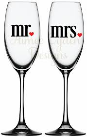 Diy Mr And Mrs Champagne Flute Wine Glass Vinyl Decal Etsy Wine Glass Vinyl Wine Glass Decals Wine Glass