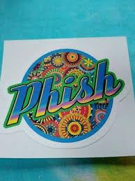 Entertainment Memorabilia Phish Phish Rainbow Logo 2 75 X 3 Inch Die Cut Clear Window Sticker Phish Entertainment Memorabilia
