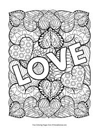 Love Coloring Page Free Printable Ebook Kleurplaten Mandala