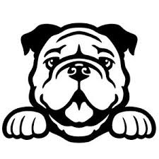 Bulldog Peeking V1 5 Black Vinyl Decal Window Sticker Ebay