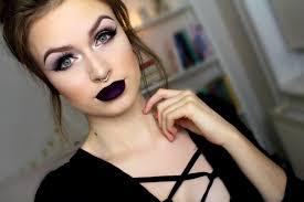 dark purple lipstick makeup tutorial