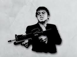 Vinyl Decal Wall Sticker Scarface Gangster Movie Film Gunman Weapon Ig1678 Ebay