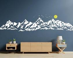 Mountain Wall Decals Etsy