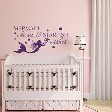 Mermaid Kisses And Starfish Wishes Wall Decal Quote By Etsy