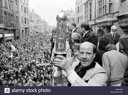 Oxford United FC manager Jim Smith, holds aloft the Second ...