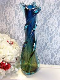 vintage murano art glass italy vase